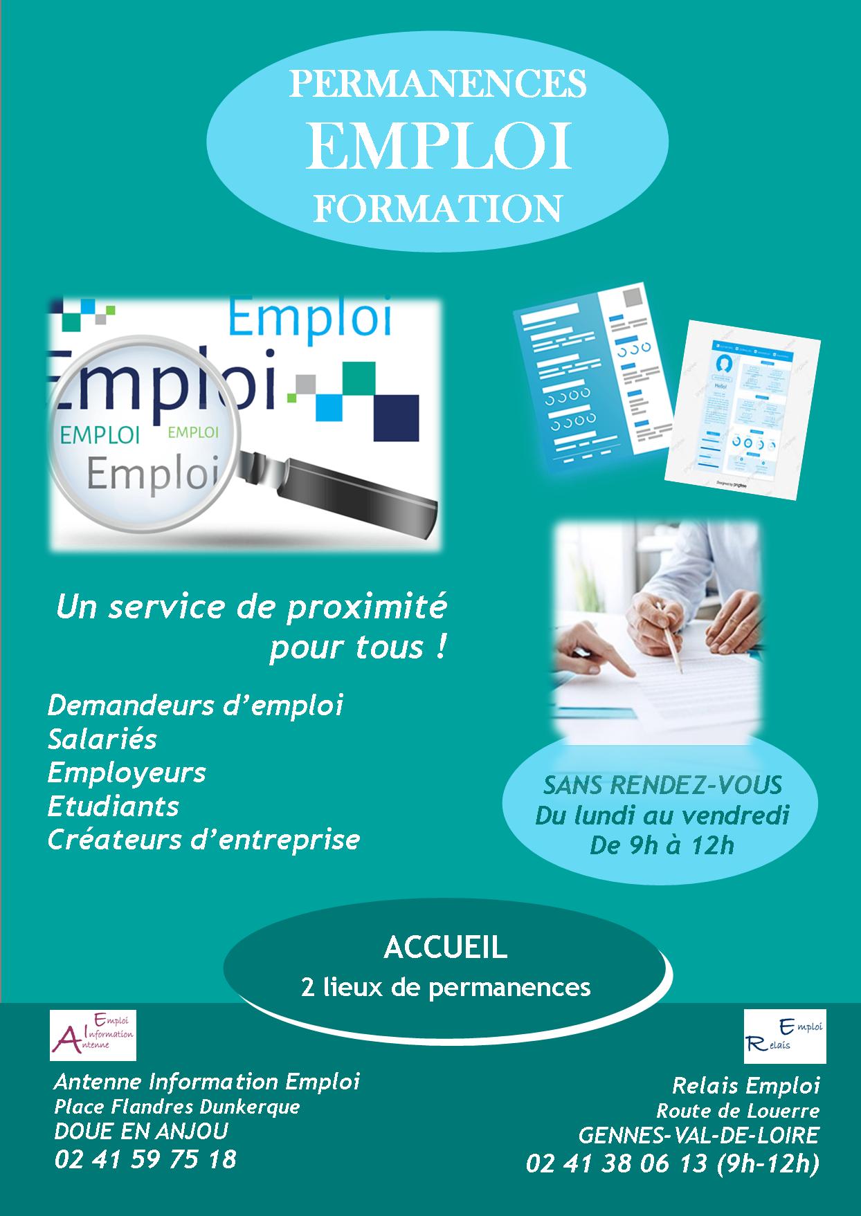 Affiche accueil permanences emploi formation 1