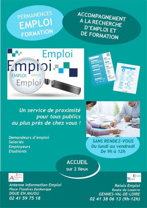 Affiche permanences emploi formation