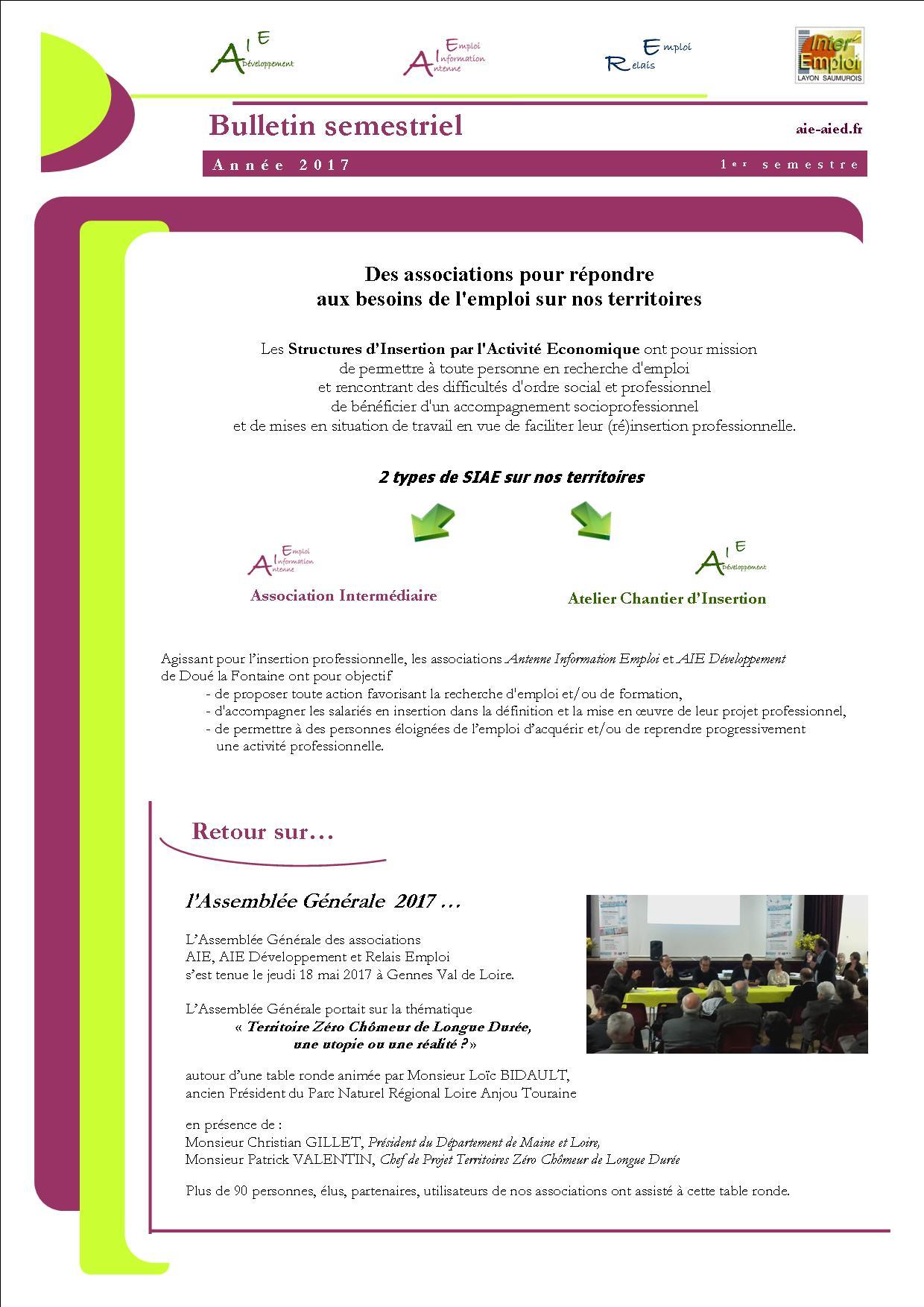 Bulletin 1er semestre 2018
