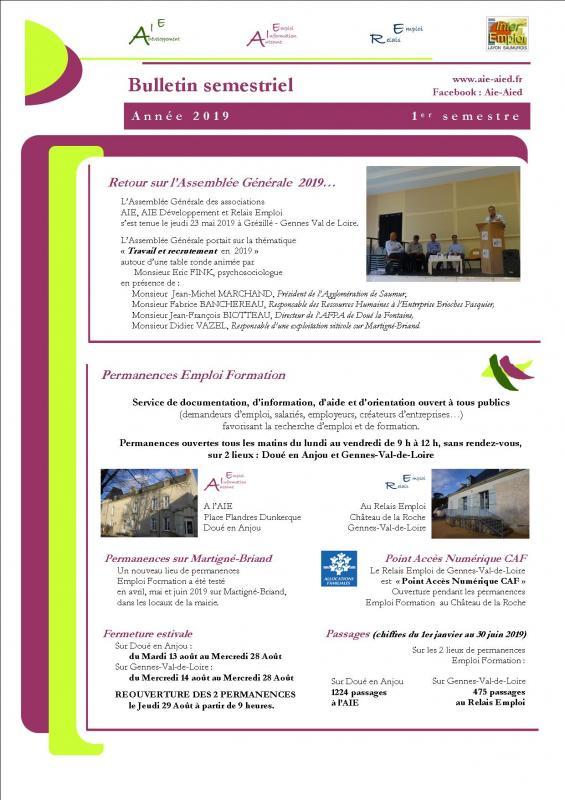 Bulletin 1er semestre 2020