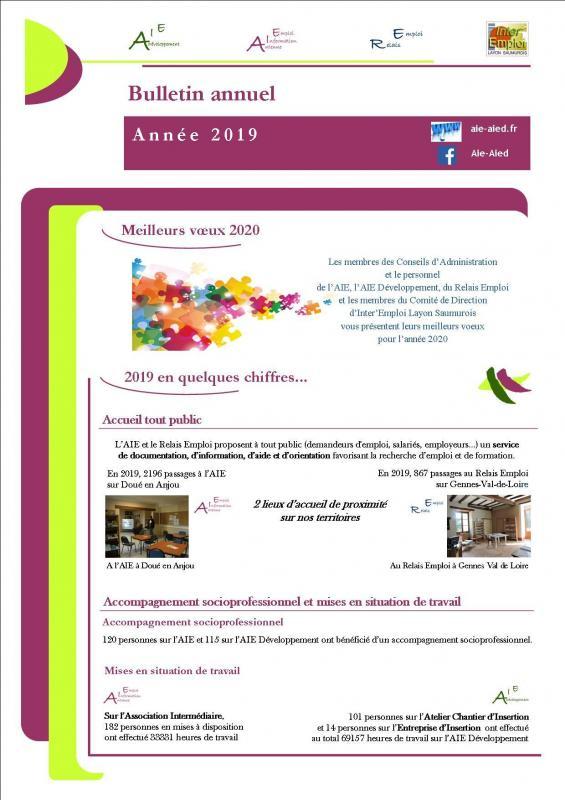 Bulletin annuel1 2019