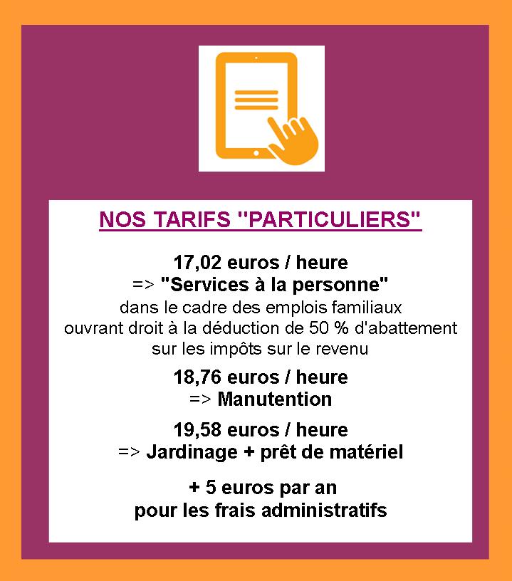 Site tarifs particuliers
